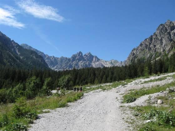 Cesta údolím potoka Wimbach