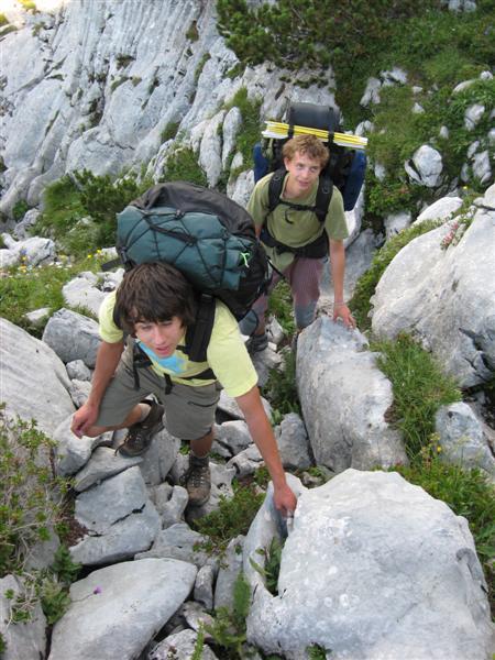 Škrábeme se do kopců