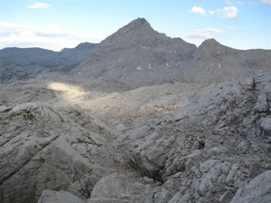 Großer Hundstod - pohled na jih přes Kamenné moře